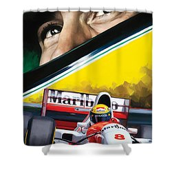 Ayrton Senna Artwork Shower Curtain