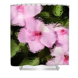 Azaelas Under Glass Shower Curtain