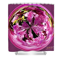 Azalea Orb IIi Shower Curtain by Jeff McJunkin