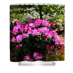 Azalea Shower Curtain by Terence Morrissey
