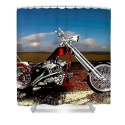 Aztec Rest Stop Shower Curtain by Lesa Fine