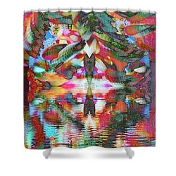 Azteca Shower Curtain by Candee Lucas