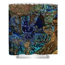 Azurite Shower Curtain