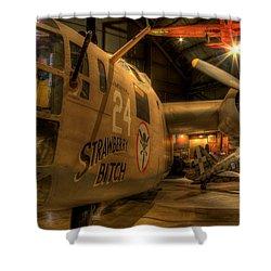 B-24 Strawberry Bitch Shower Curtain
