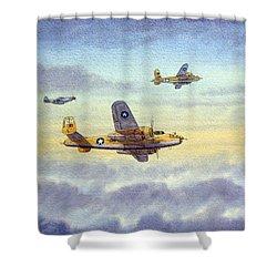 B-25 Mitchell Shower Curtain by Bill Holkham