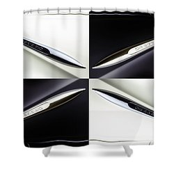 B And W Chevy Shower Curtain