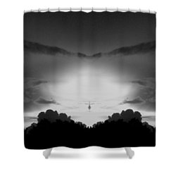 Helicopter And Stormy Sky Shower Curtain