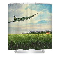 B17 Over Norfolk England Shower Curtain