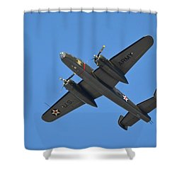 B25 Mitchell Wwii Bomber On 70th Anniversary Of Doolittle Raid Over Florida 21 April 2013 Shower Curtain