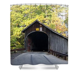 Babbs Covered Bridge Shower Curtain by Catherine Gagne