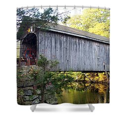Babbs Covered Bridge In Maine Shower Curtain by Catherine Gagne