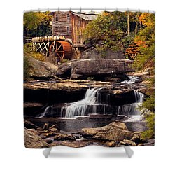 Babcock Grist Mill And Falls Shower Curtain by Jerry Fornarotto