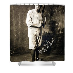 Babe Ruth 1920 Shower Curtain by Mountain Dreams
