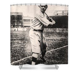 Babe Ruth Shower Curtain by Bill Cannon