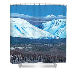 Babine Mountain Range Shower Curtain
