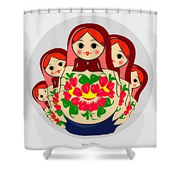 Babushka Shower Curtain by Mark Ashkenazi