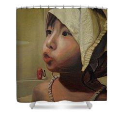 Baby Bath Mama Shower Curtain