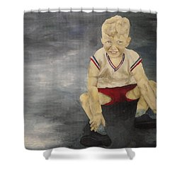 Shower Curtain featuring the painting Baby Bill  by Mary Ellen Anderson