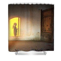 Baby Do Not Open That Door Shower Curtain