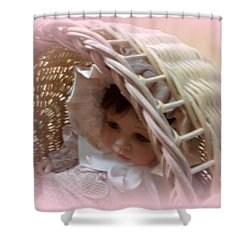 Baby In Pink Shower Curtain