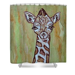 Baby Longneck Giraffe Shower Curtain