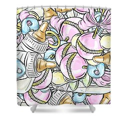 Baby On The Way Shower Curtain by Trish Tritz