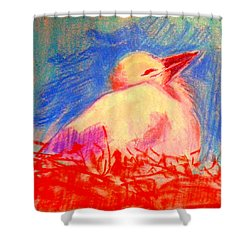Baby Stork Shower Curtain