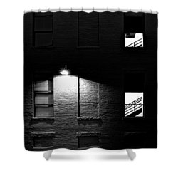 Back Alley 330am Shower Curtain by Bob Orsillo