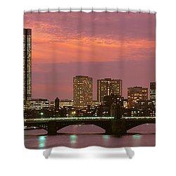 Back Bay, Boston, Massachusetts, Usa Shower Curtain