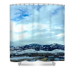 Back In Bozeman Shower Curtain by M West