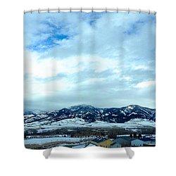 Back In Bozeman Shower Curtain