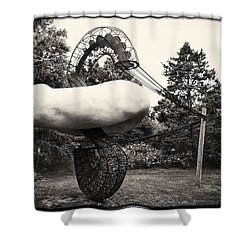 Back In Time At Grounds Of Sculpture Shower Curtain by Eduard Moldoveanu