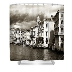 Back In Time On The Grand Canal Shower Curtain by John Rizzuto
