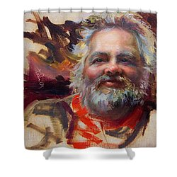 Back In Town Shower Curtain by Talya Johnson