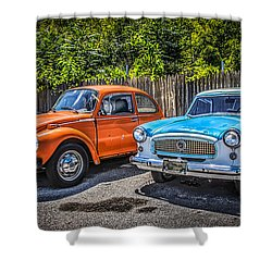 Back Lot Beauties  Shower Curtain by Ray Congrove