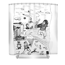 Back Rooms Of My Mind Door 17812 Shower Curtain by Michael Mooney