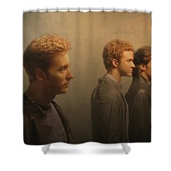 Back Stage With Nsync Shower Curtain