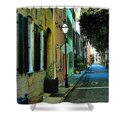 Shower Curtain featuring the photograph Back Street In Charleston by Rodney Lee Williams