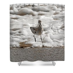 Back To Safety  Shower Curtain