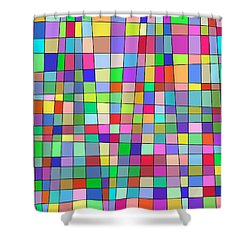Back To Square One Shower Curtain