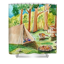 Back Yard Camp Shower Curtain
