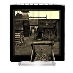 Back Yard Gold Mine Shower Curtain by Barbara St Jean