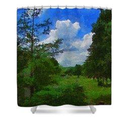 Back Yard View Shower Curtain by Jeffrey Kolker