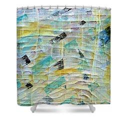 Backbeat Shower Curtain by Regina Valluzzi