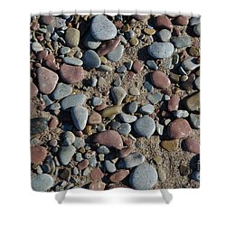 Shower Curtain featuring the photograph Background Of Wet Pebbles And Sand by Kennerth and Birgitta Kullman