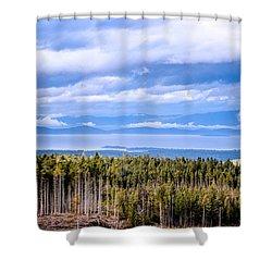 Johnstone Strait High Elevation View Shower Curtain