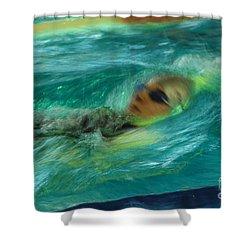 Shower Curtain featuring the photograph Backstroke by Randi Grace Nilsberg