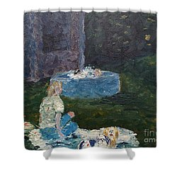 Backyard Fun Shower Curtain by Wayne Cantrell