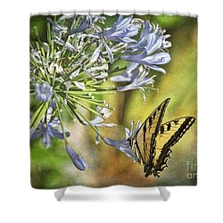 Backyard Nature Shower Curtain by Peggy Hughes