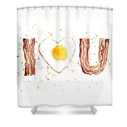 Bacon And Egg I Love You Shower Curtain
